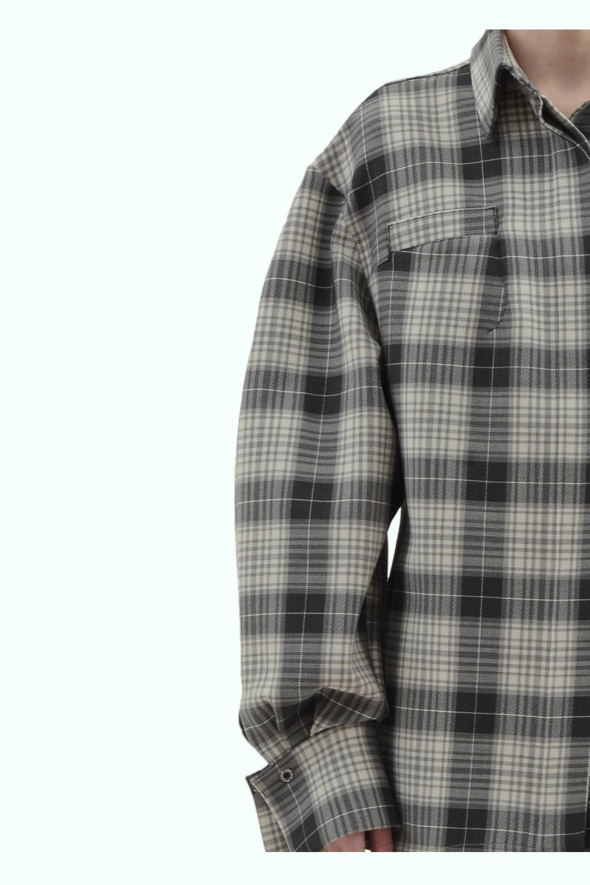 Black and grey check loose fit shirt 3