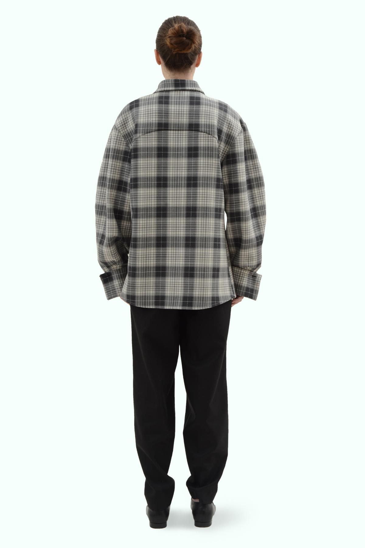 Black and grey check loose fit shirt 4
