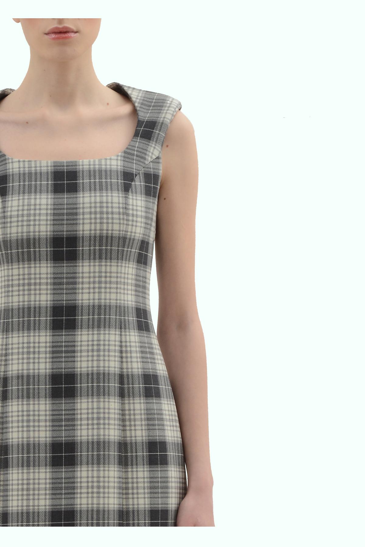 Black and grey check pencil dress 3