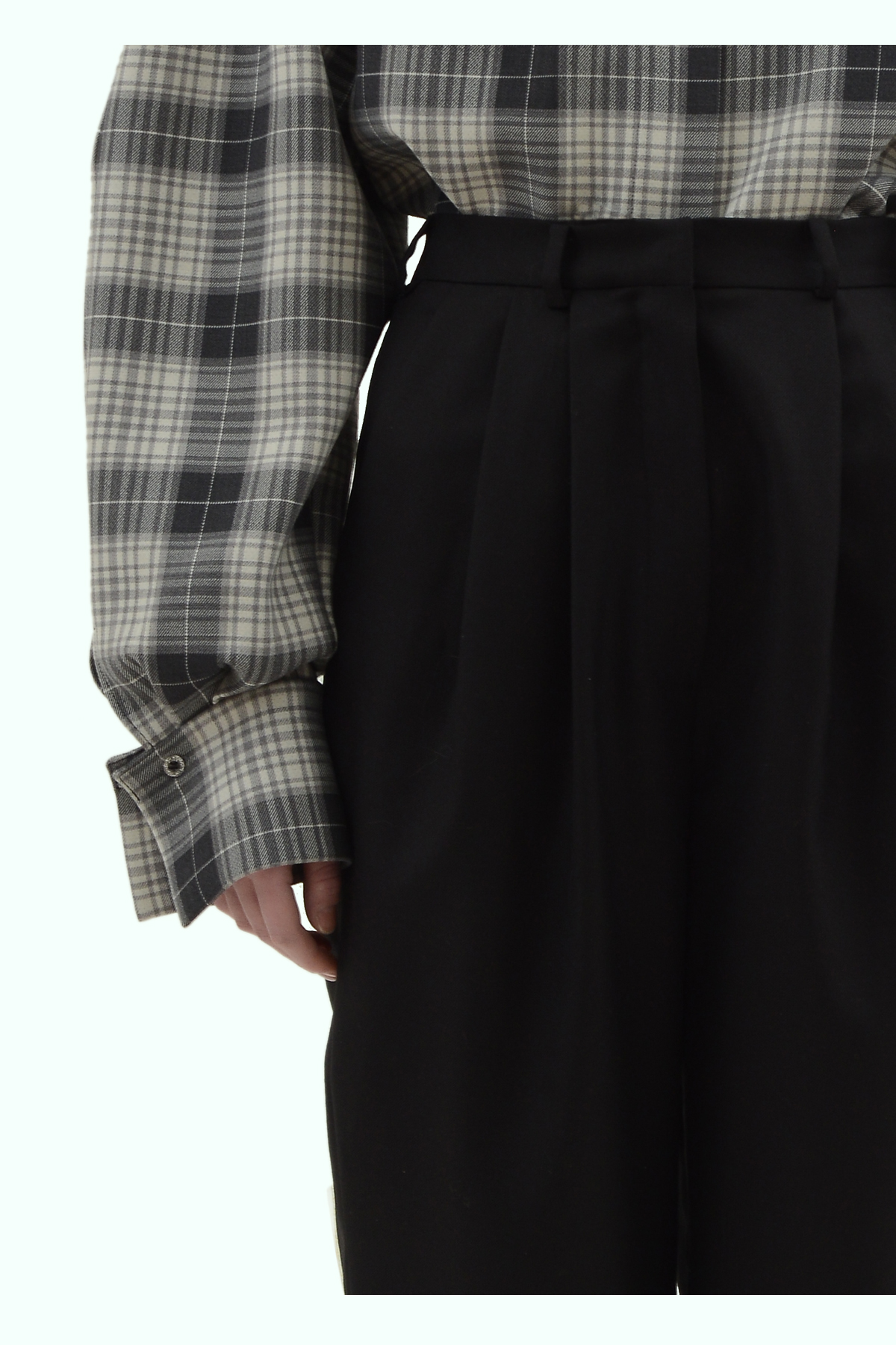 Black wool high waist pants 3