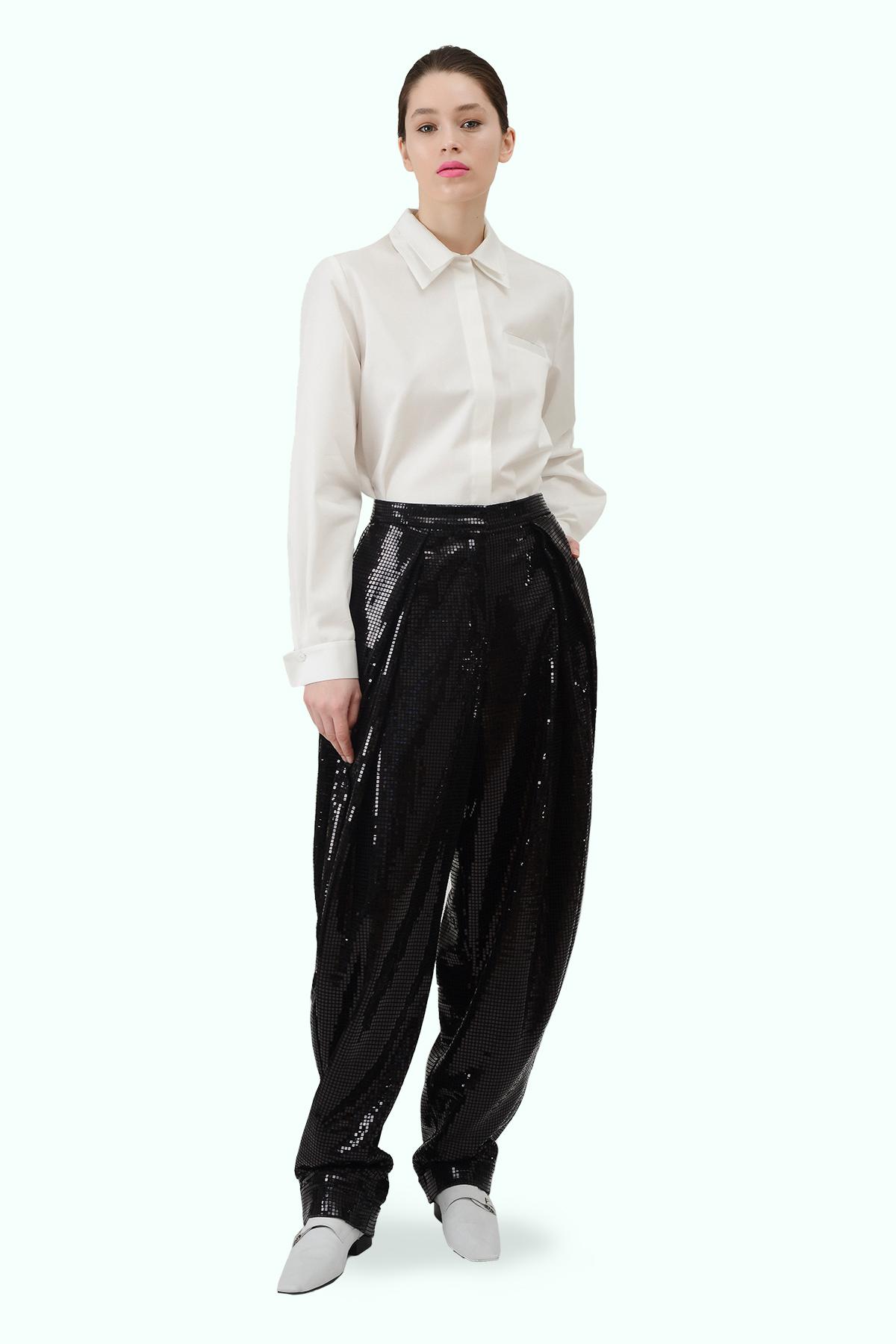 Black sparkly loose pants