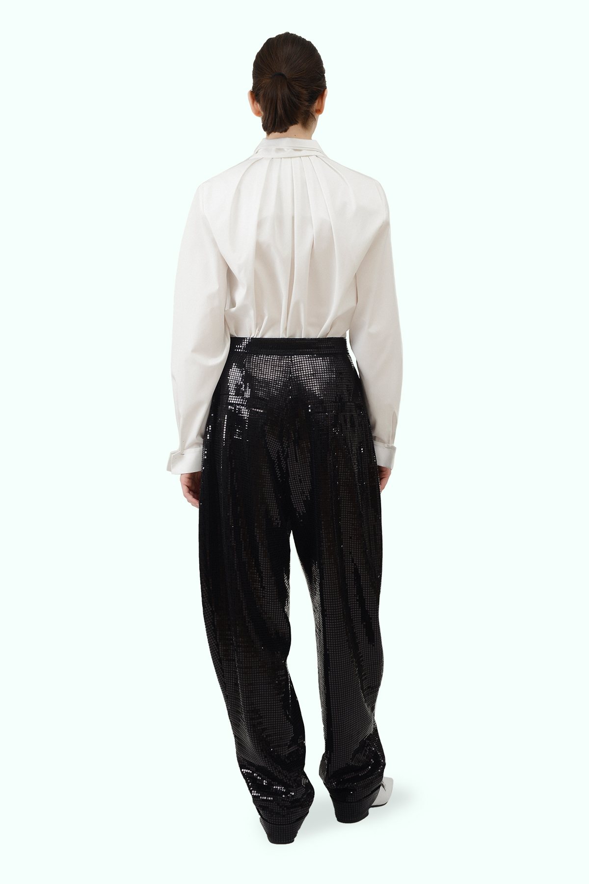 Black sparkly loose pants 3