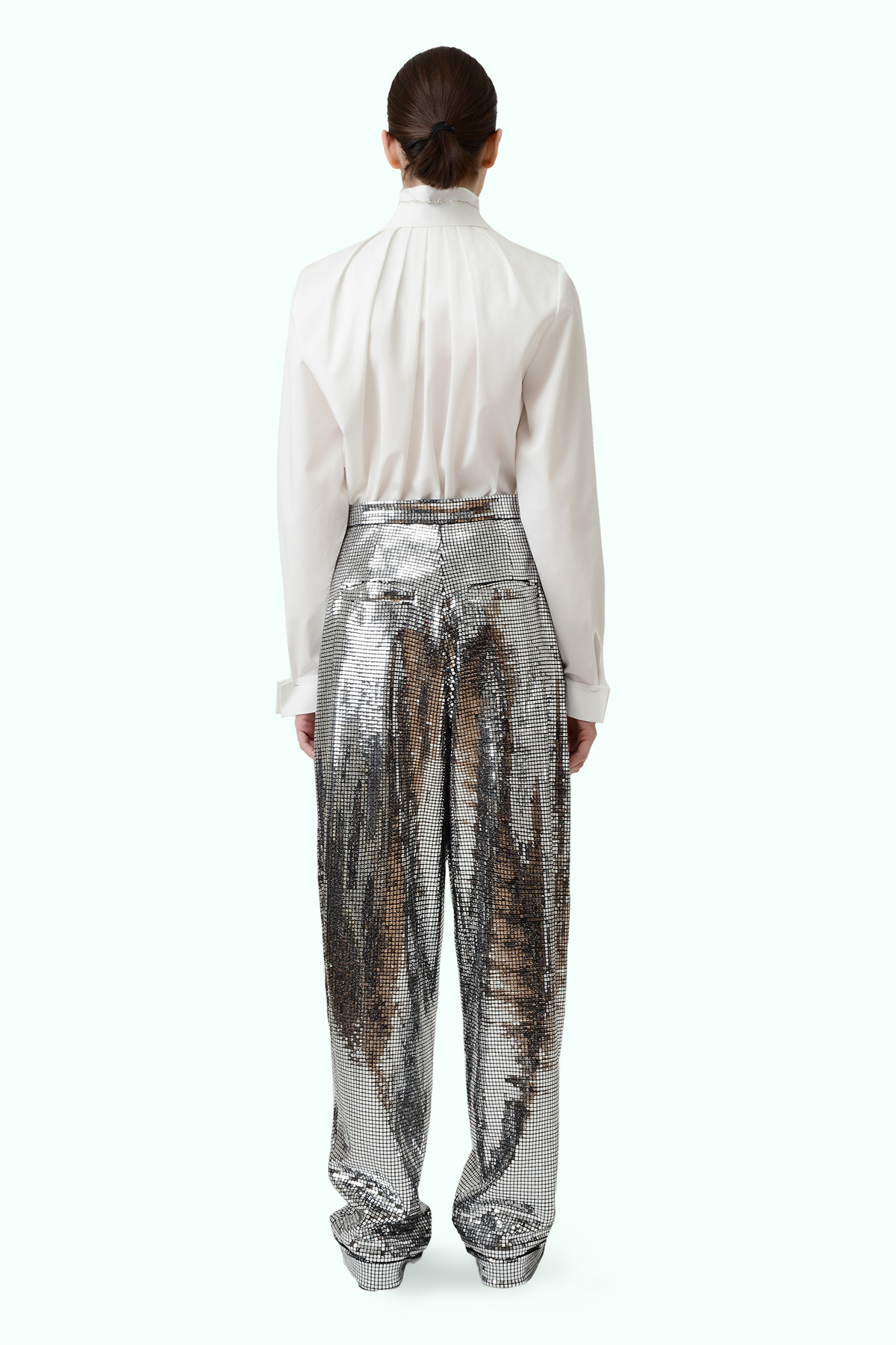 Silver loose disco pants 3
