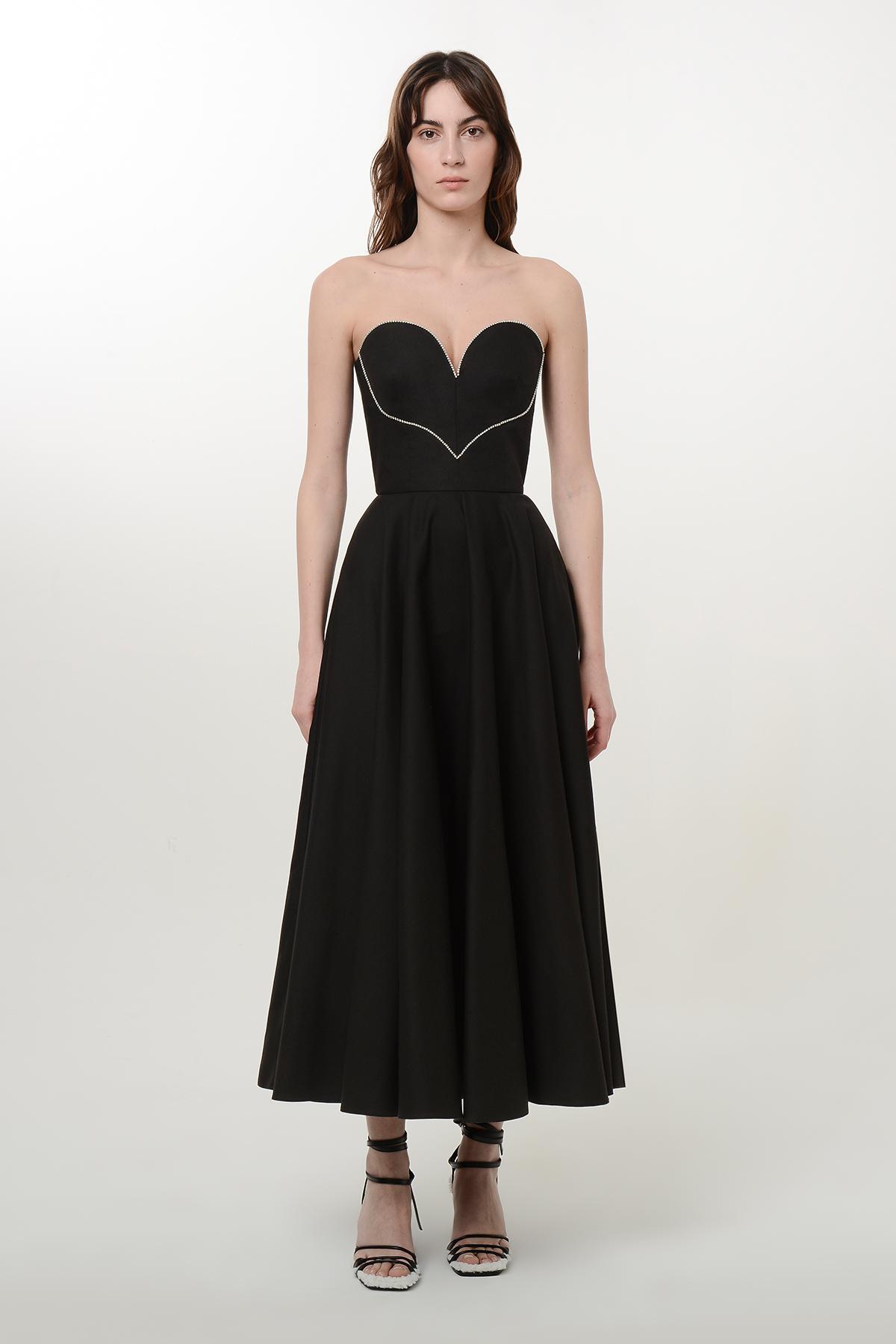 Corset style flare heart dress
