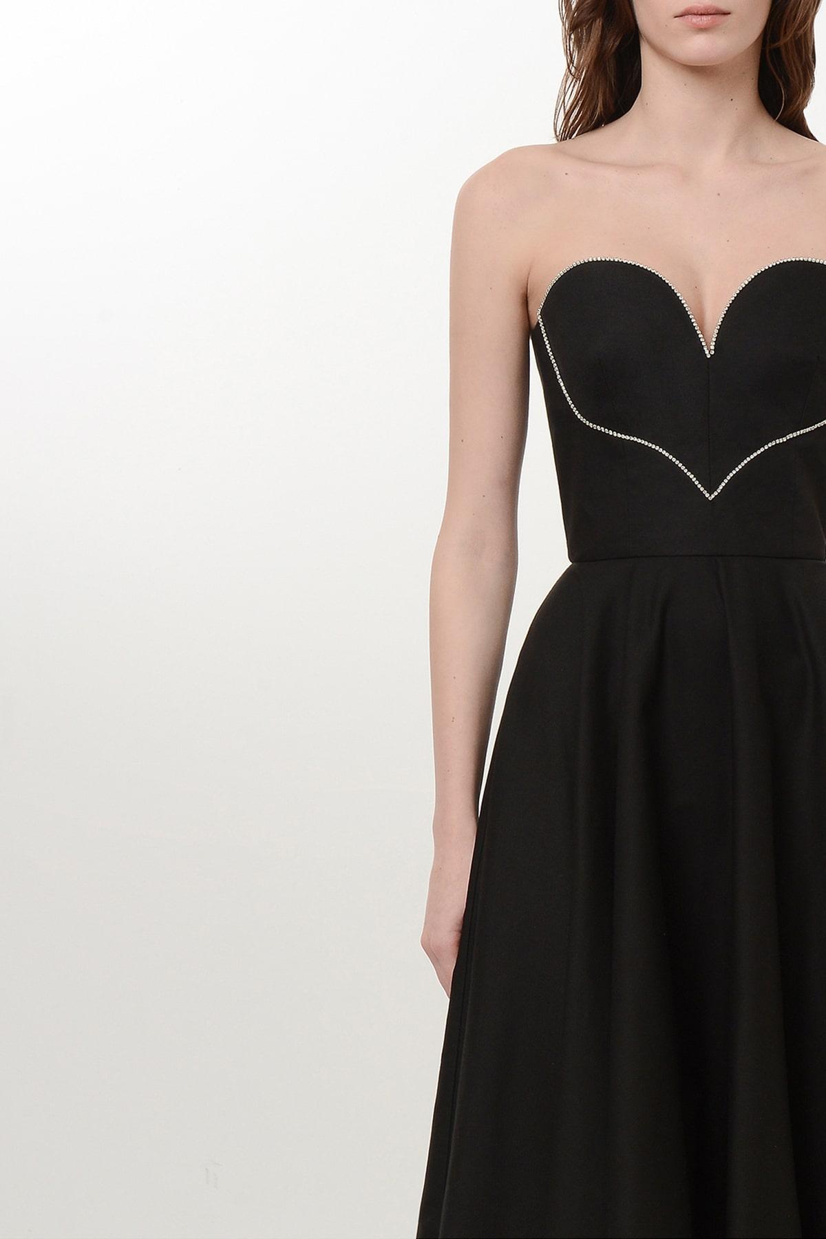 Corset style flare heart dress 3