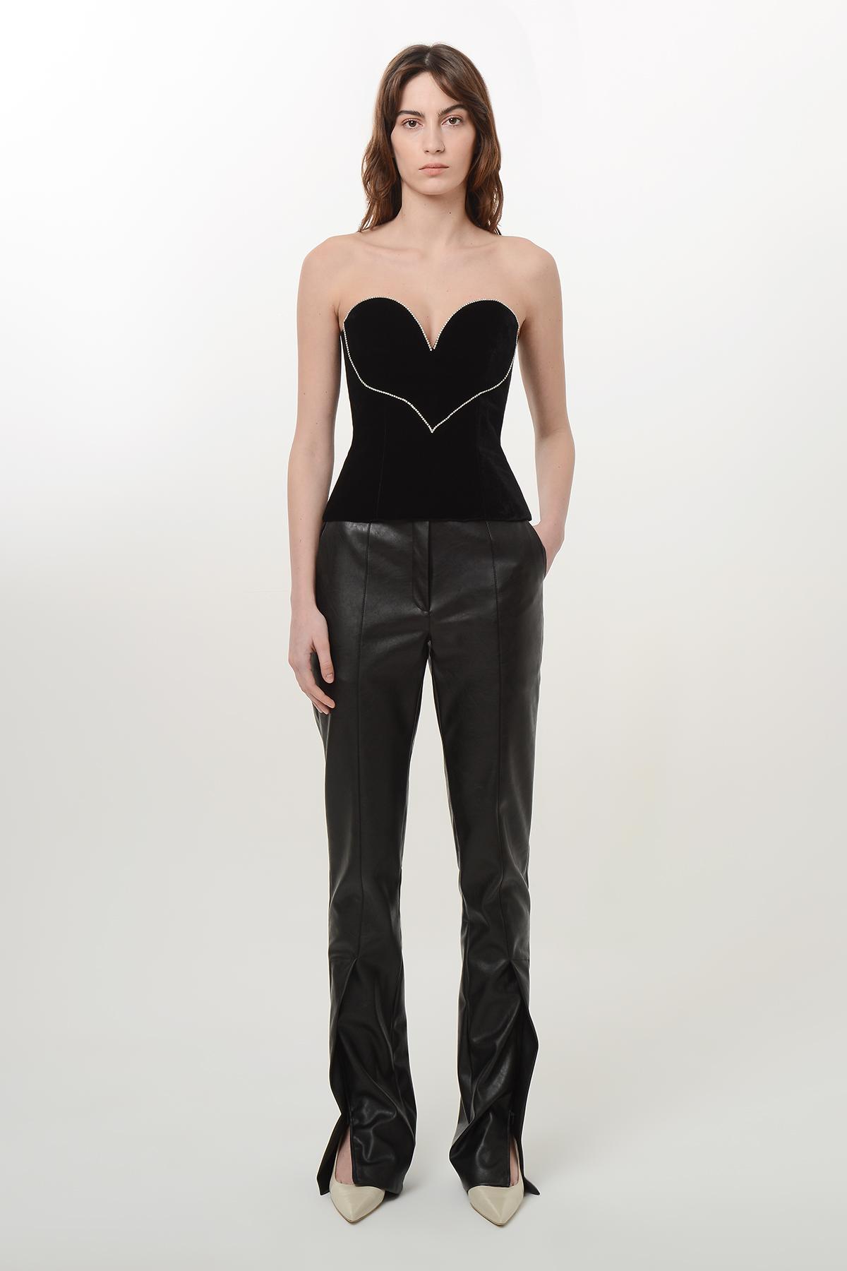 Velvet heart corset blouse 1