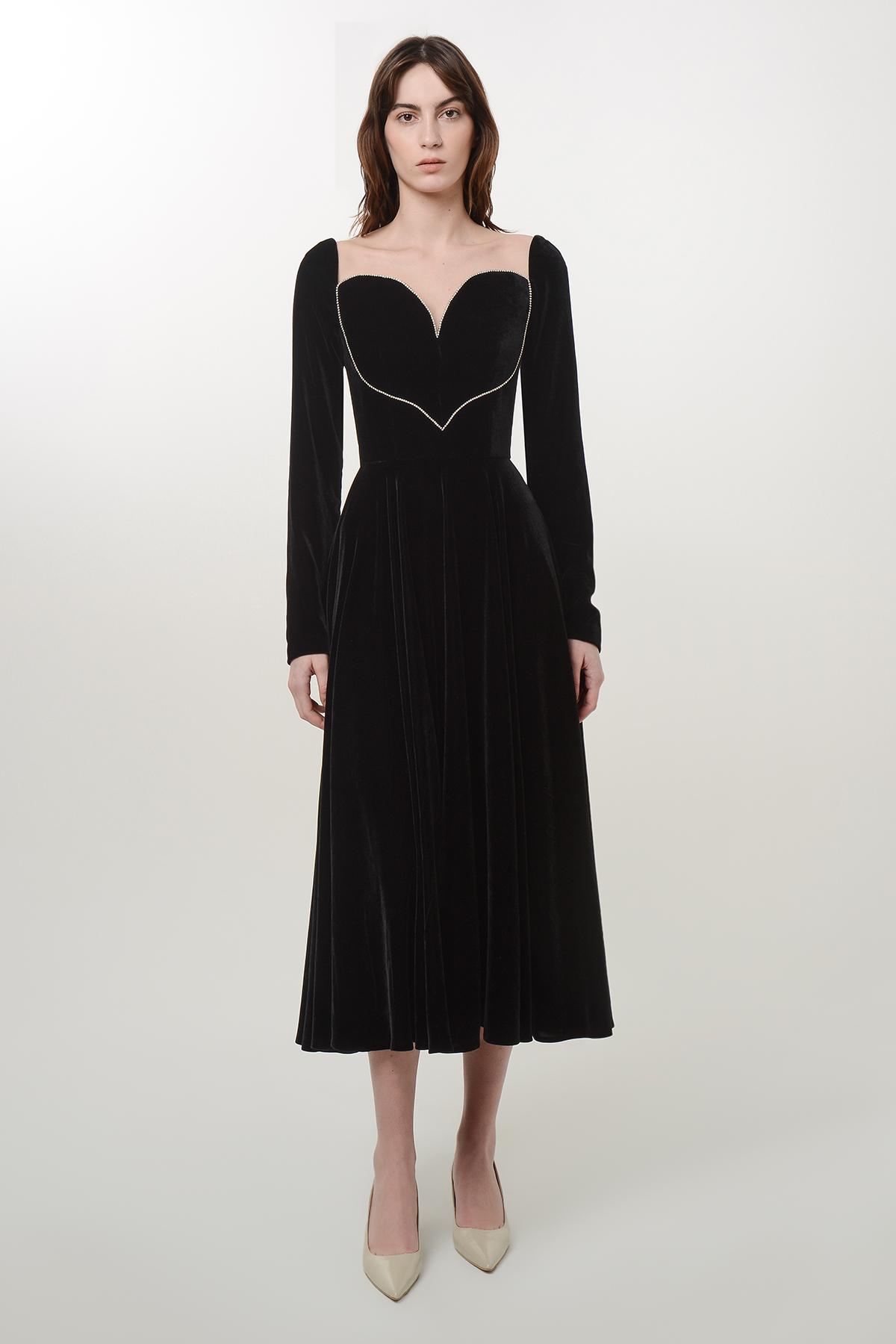 Silk velvet heart dress 1