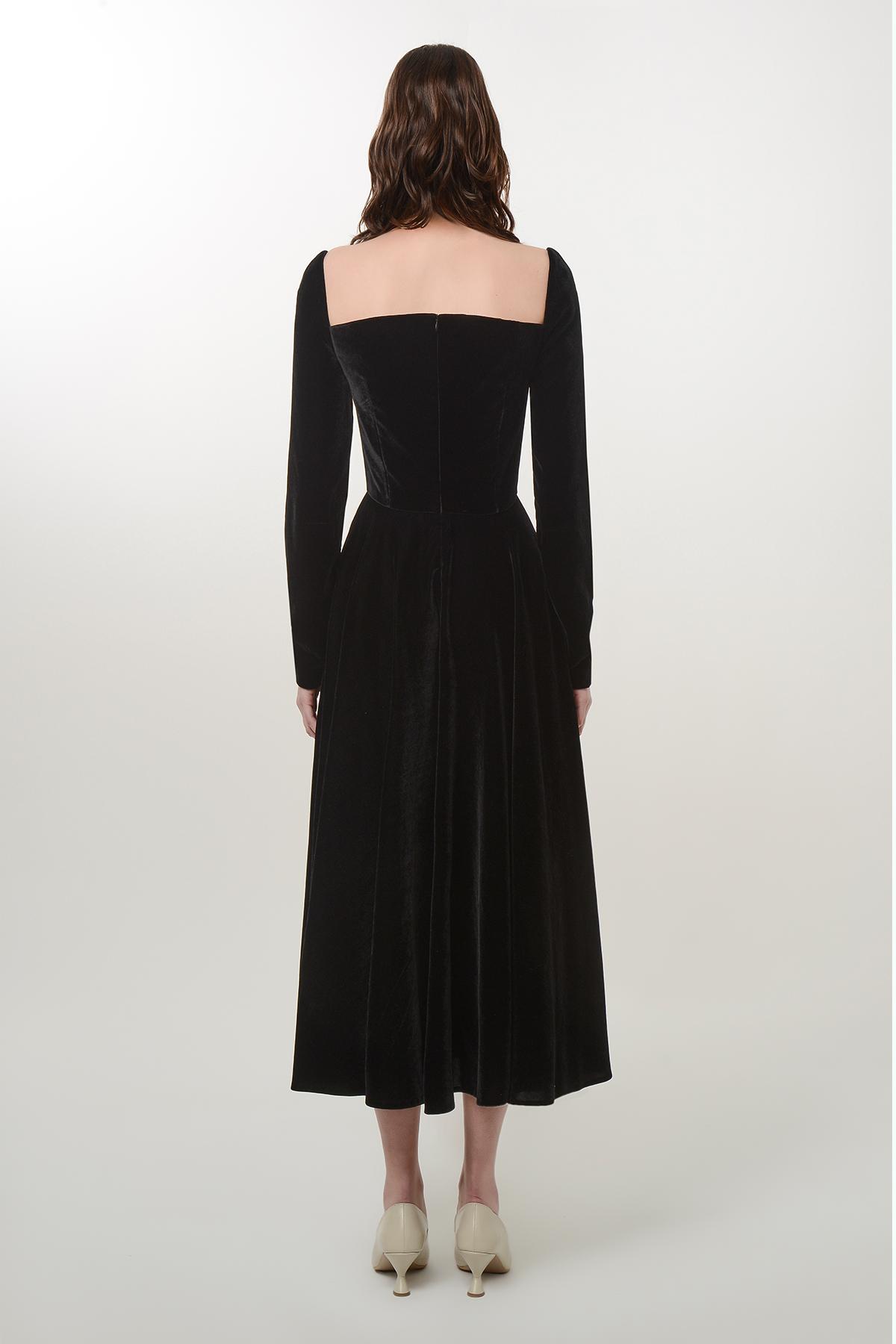 Silk velvet heart dress 2