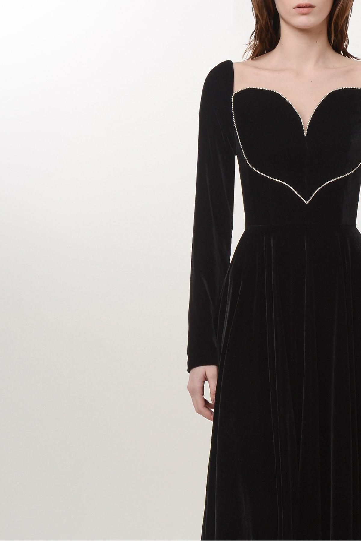 Silk velvet heart dress 3