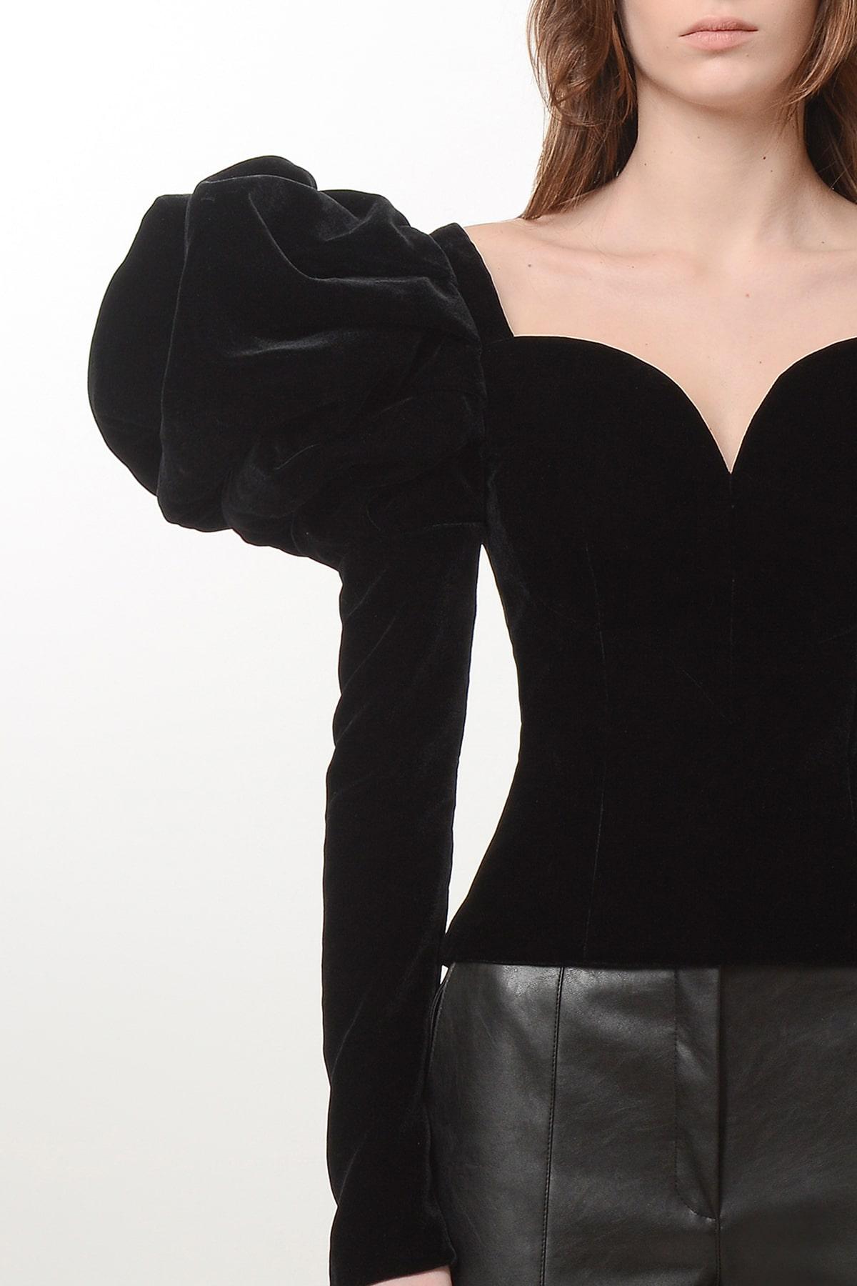 Silk velvet rose blouse 3