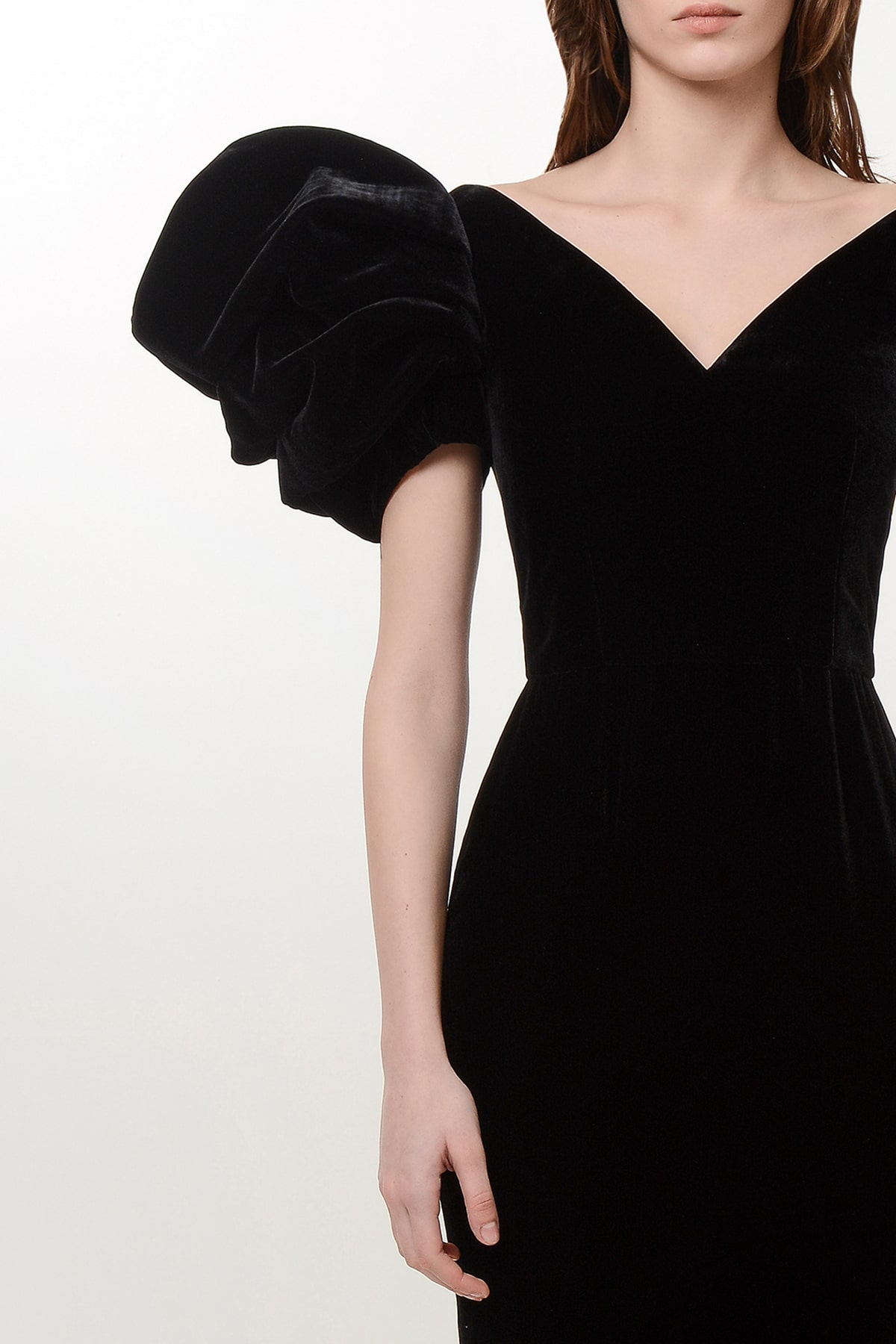 Silk velvet rose dress 3