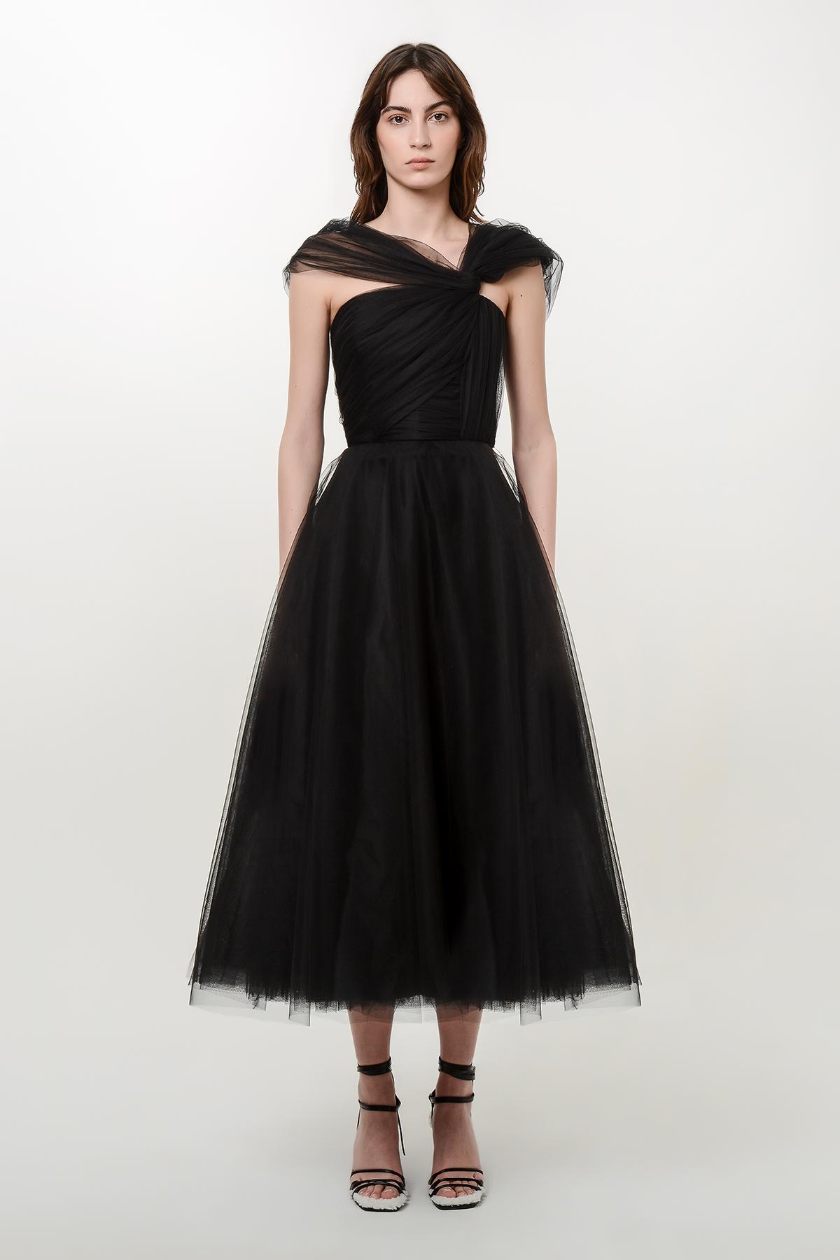 Corset style tulle dress 1