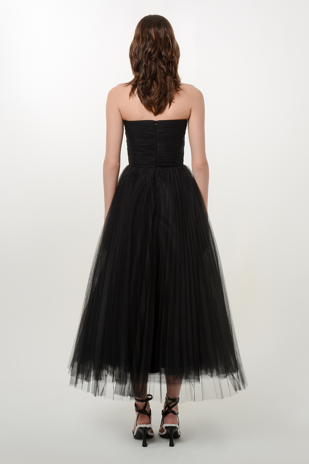 Corset style tulle dress with crystals 2