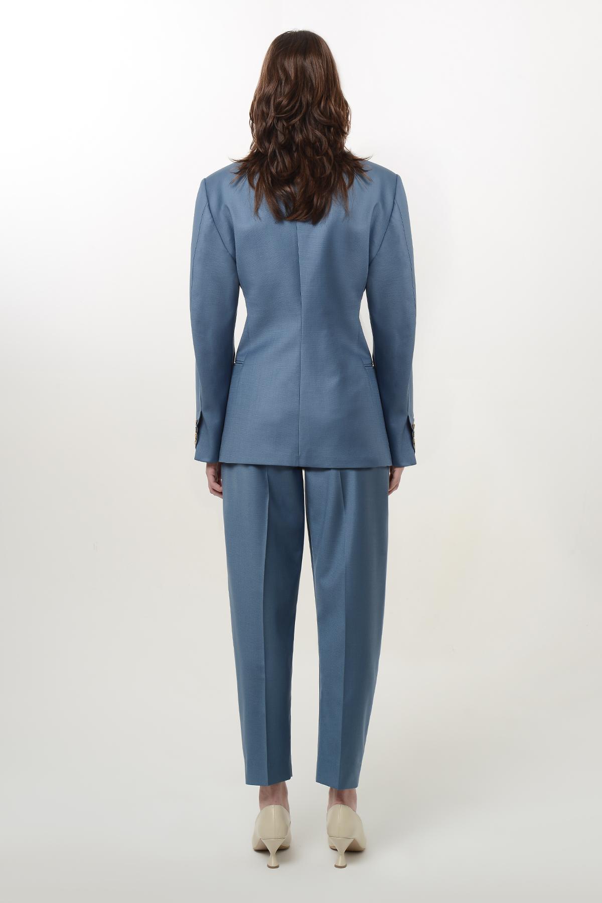 Slim waist wool blazer 2