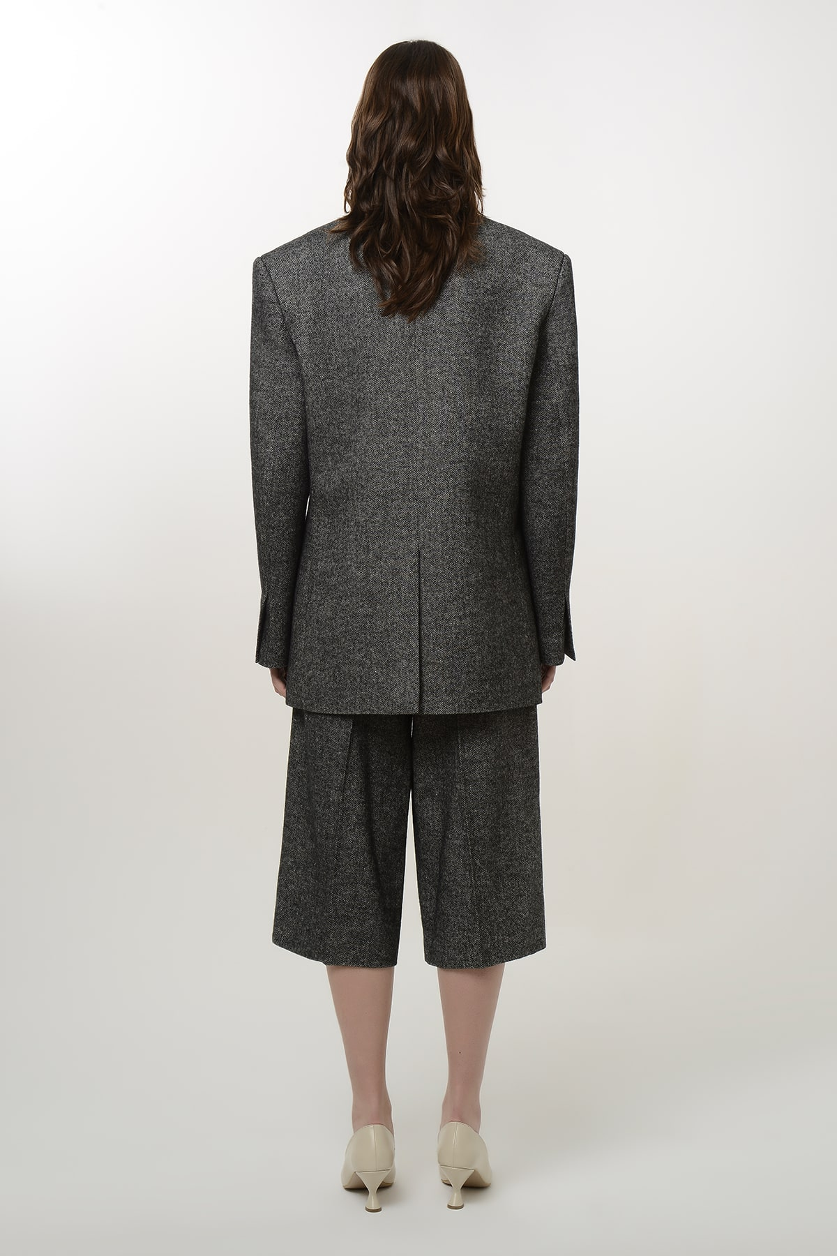Double breasted tweed blazer 2