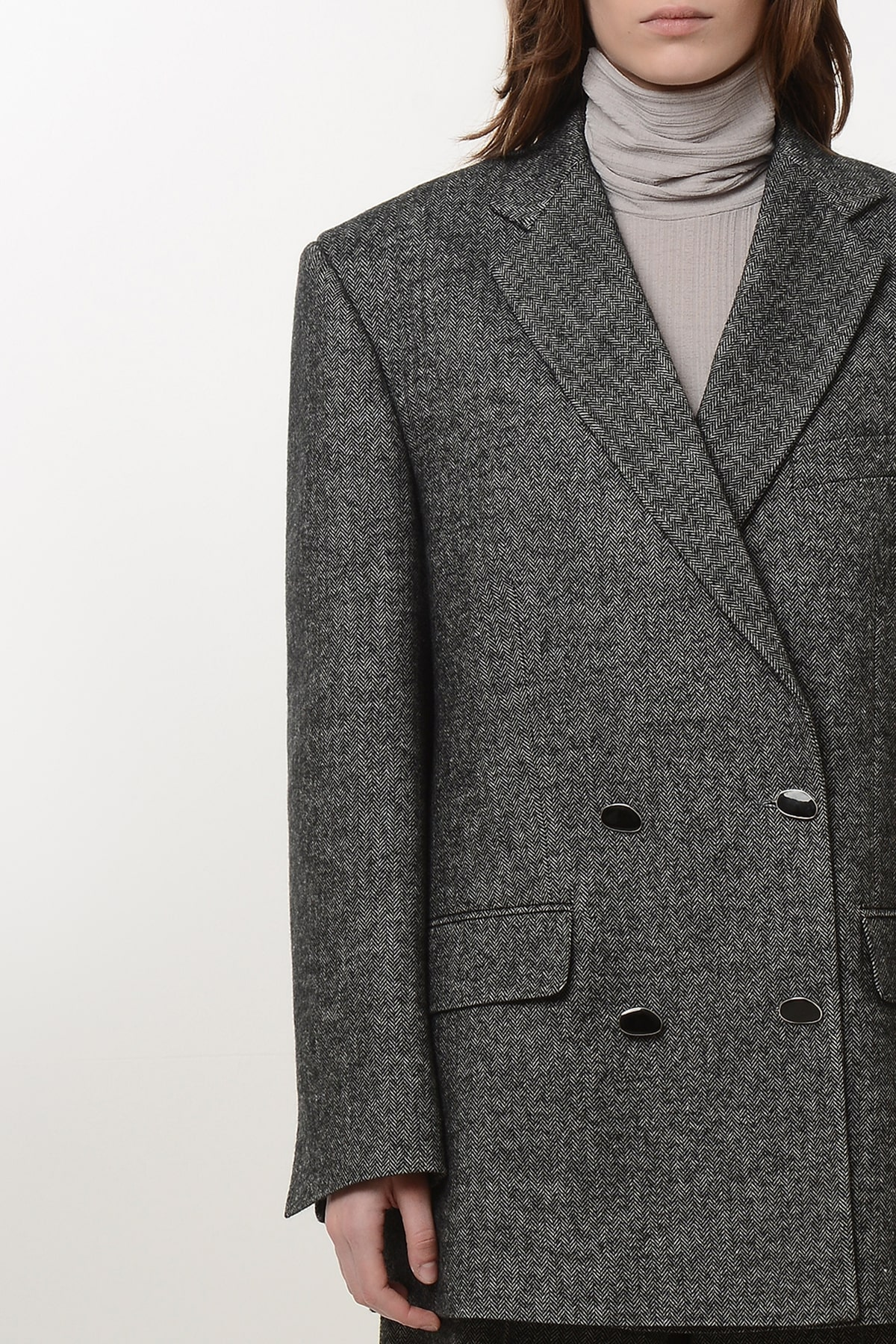 Double breasted tweed blazer 3