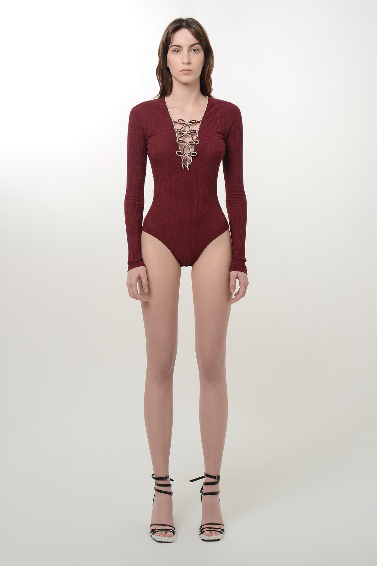 Crystal embroidered bodysuit 1
