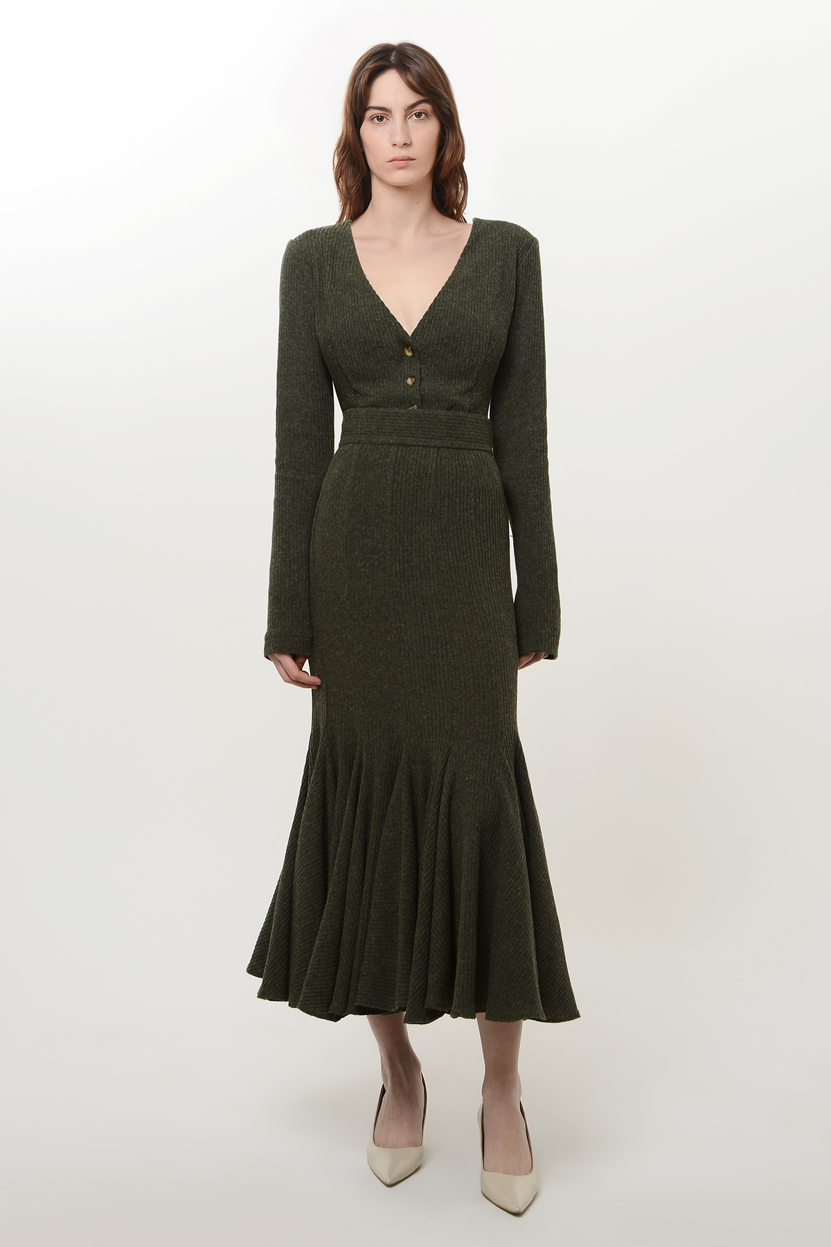 Knitted v neck cardigan 1