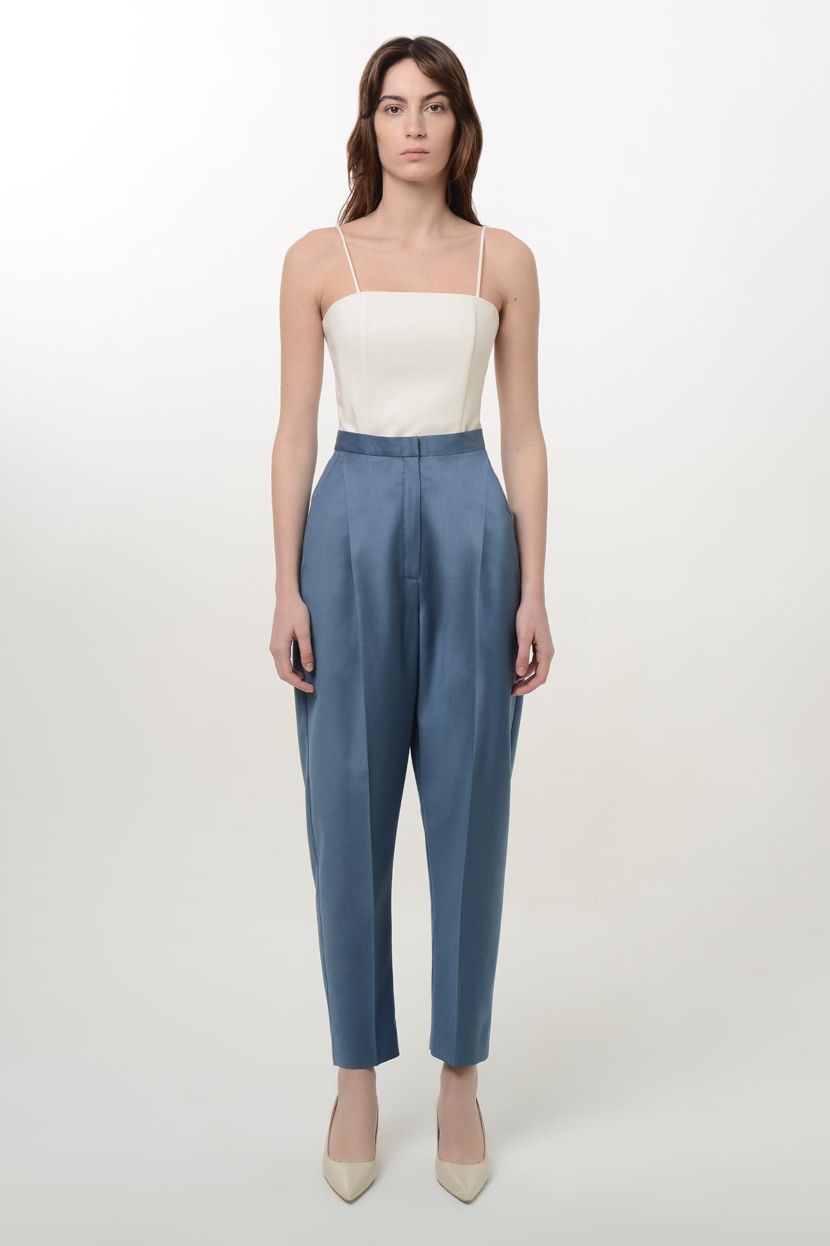 High waisted wool pants 1