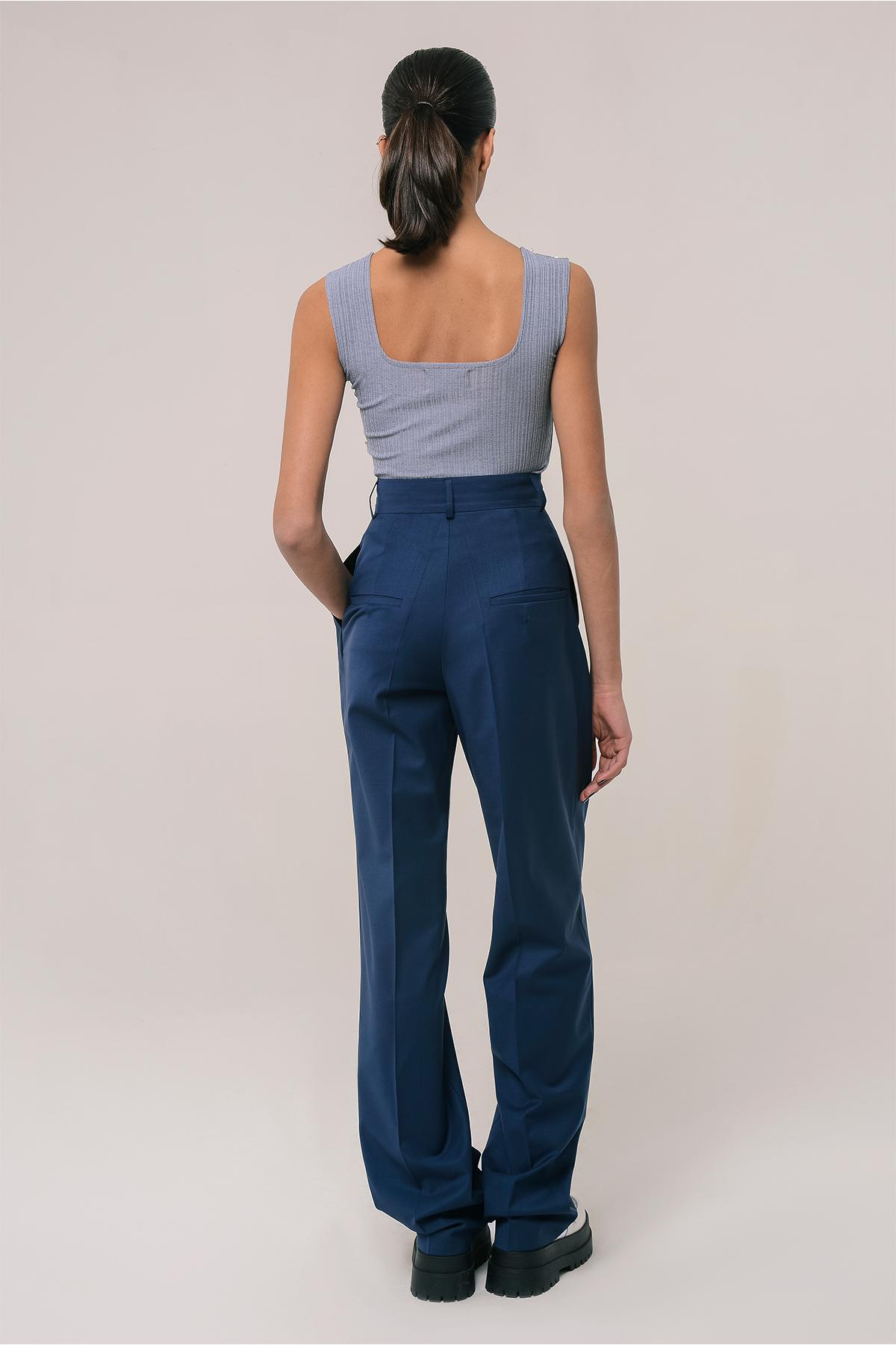 High waisted wool pants 2