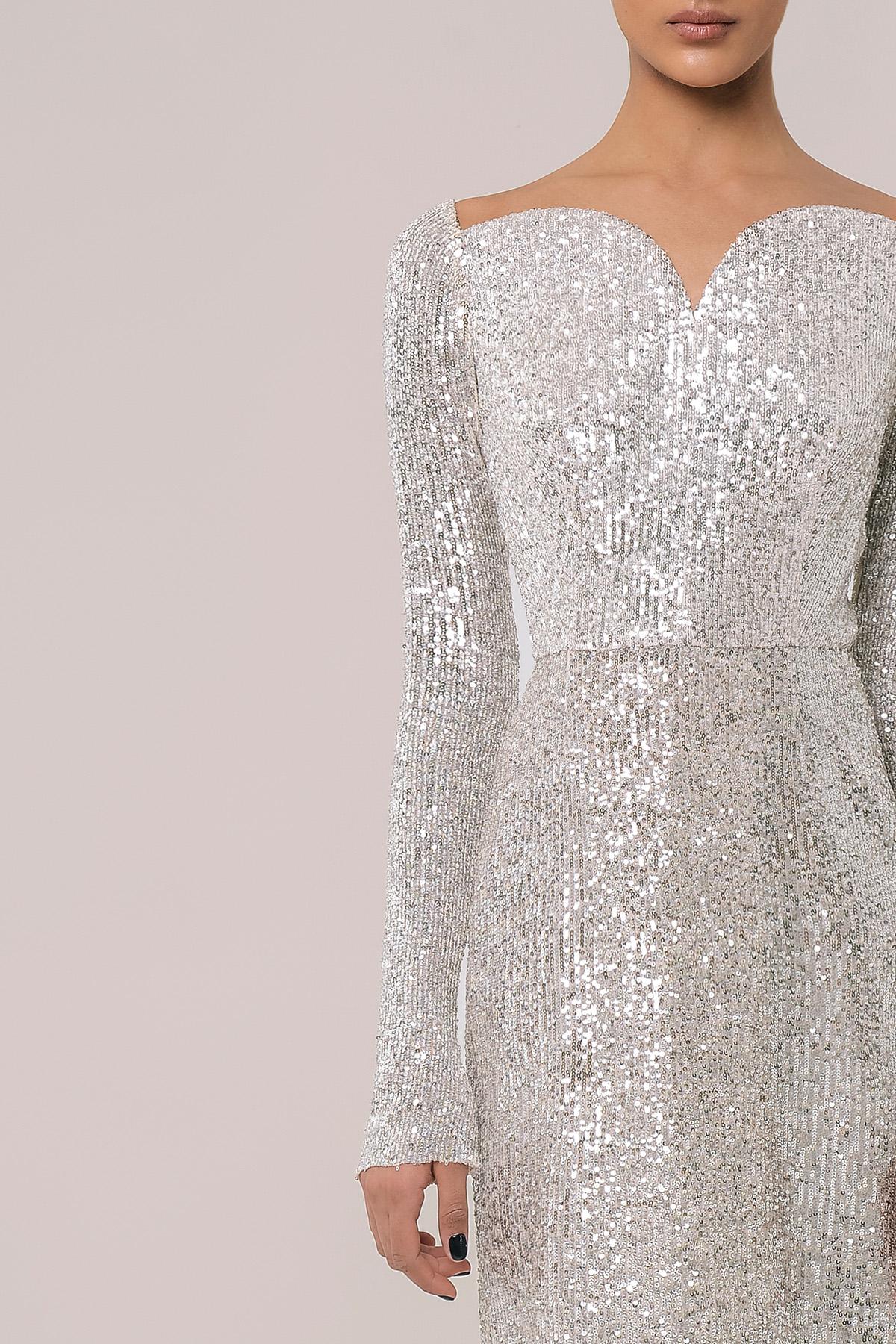 Sequin bardot dress 4