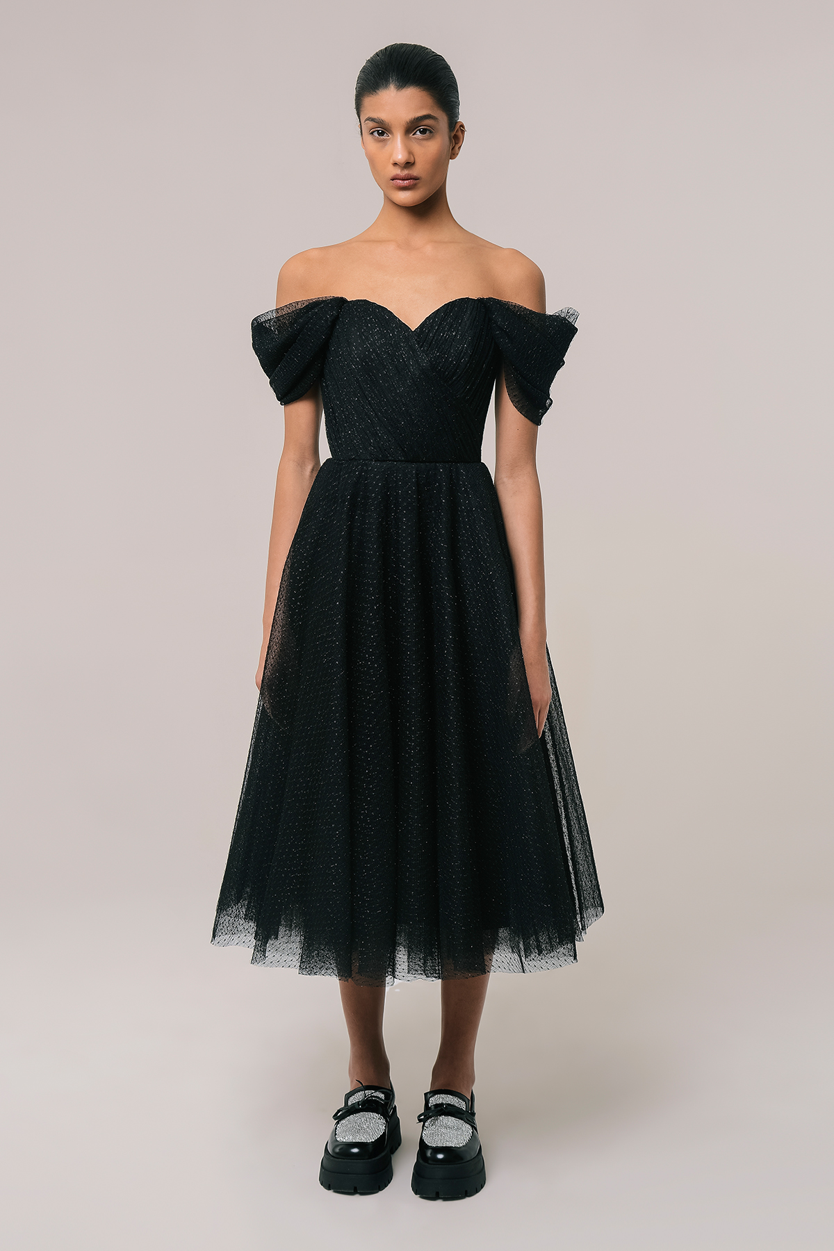 Corset style tulle dress