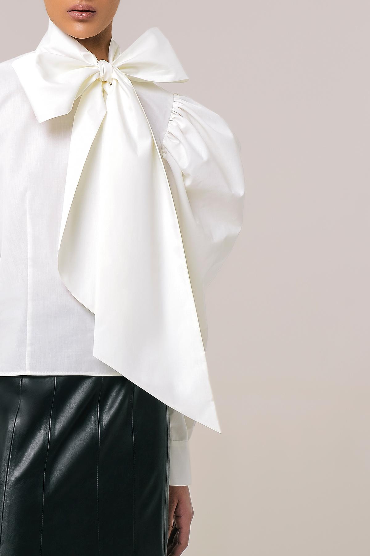 Bow tie cotton shirt 4