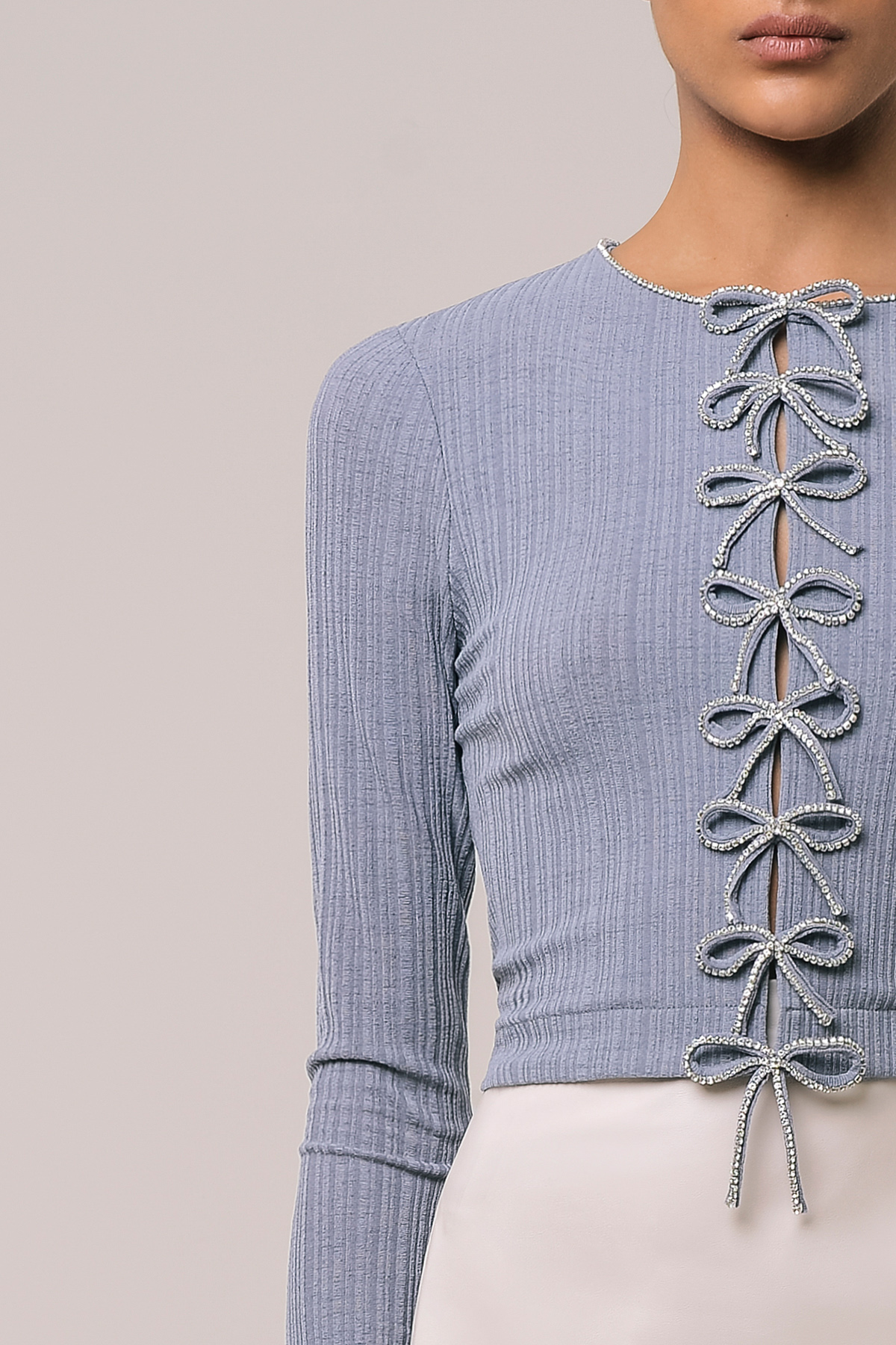 Long sleeve blouse with embroidered ribbons 3
