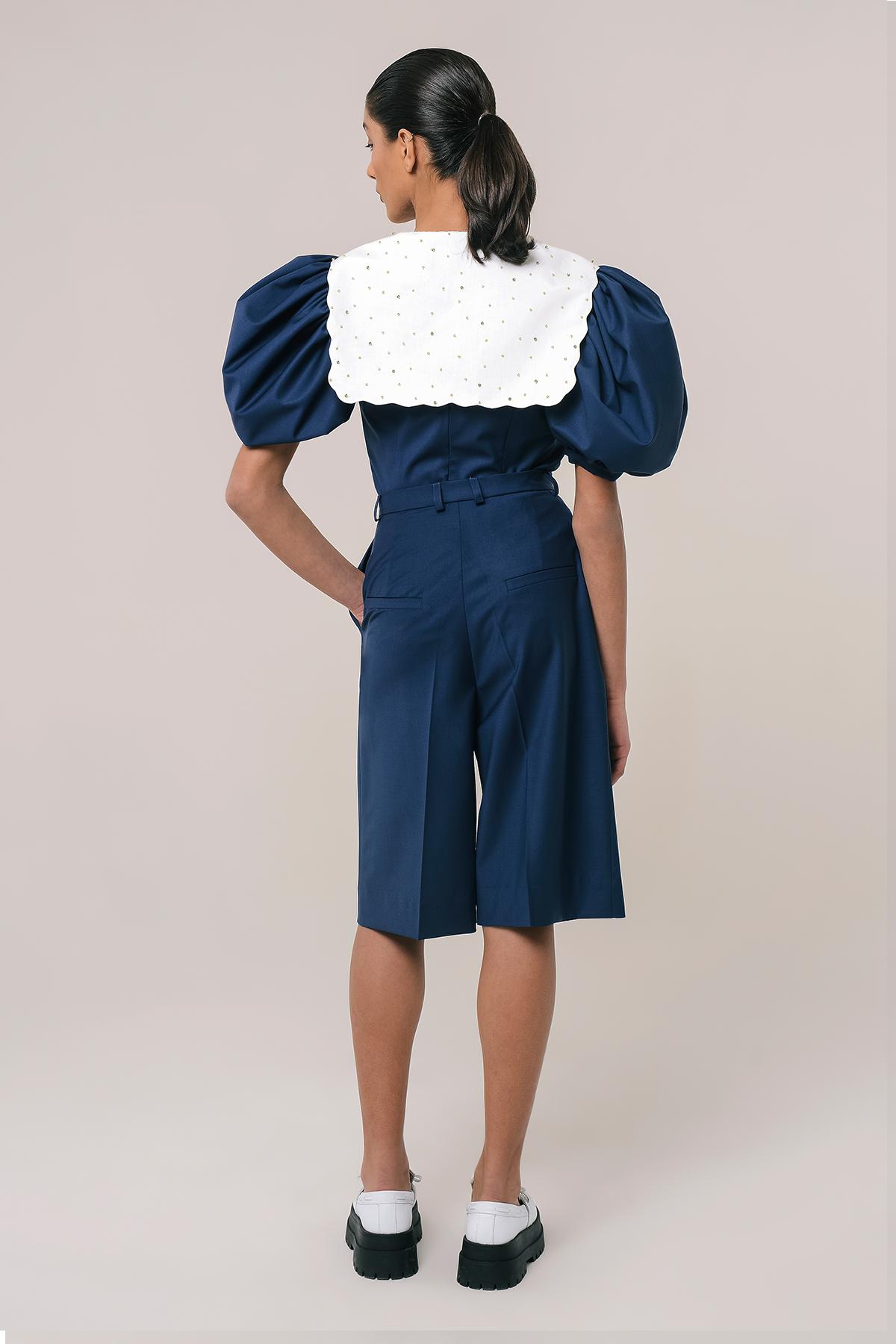 High waisted wool bermuda shorts 2