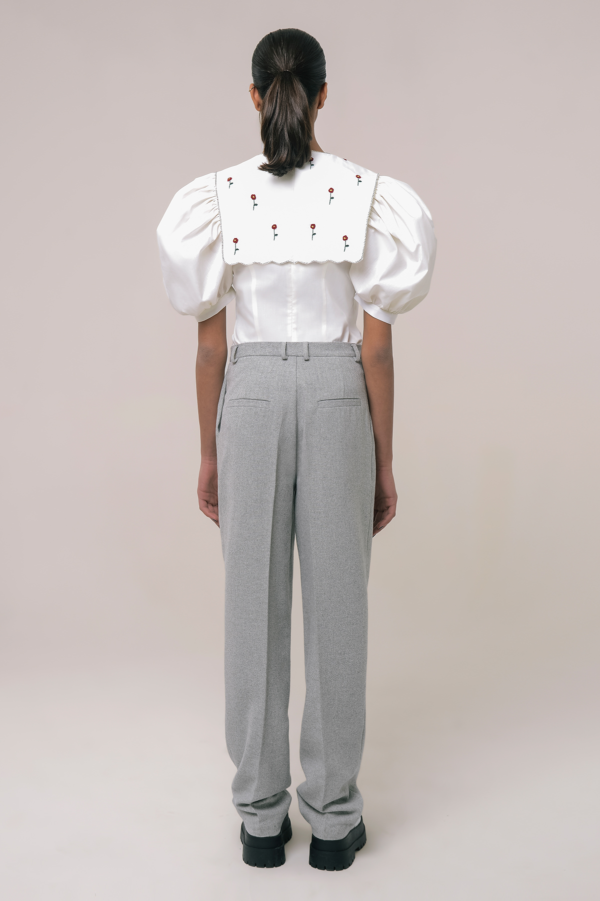 Men's style tweed pants 2