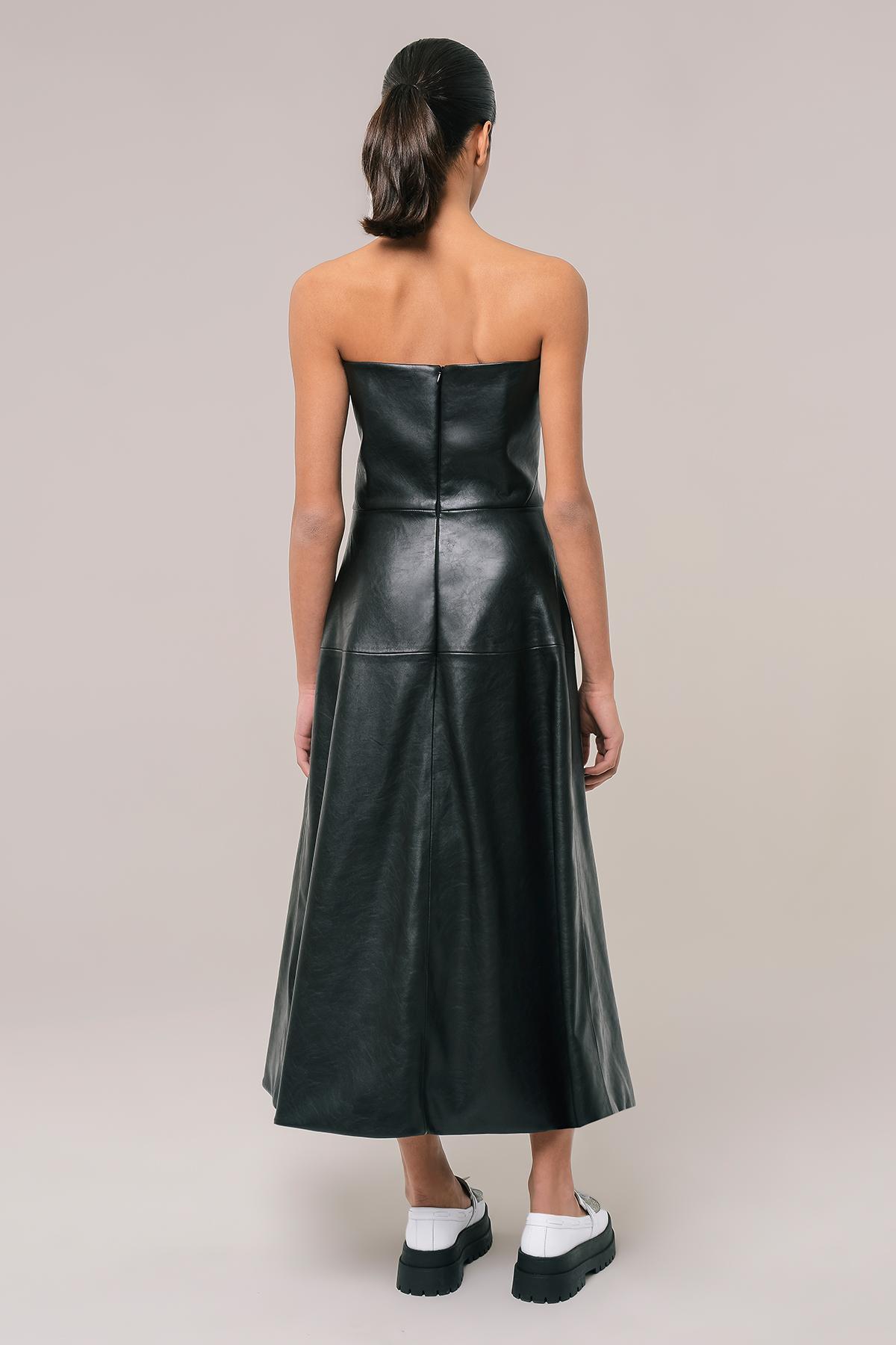 Vegan leather corset dress 2