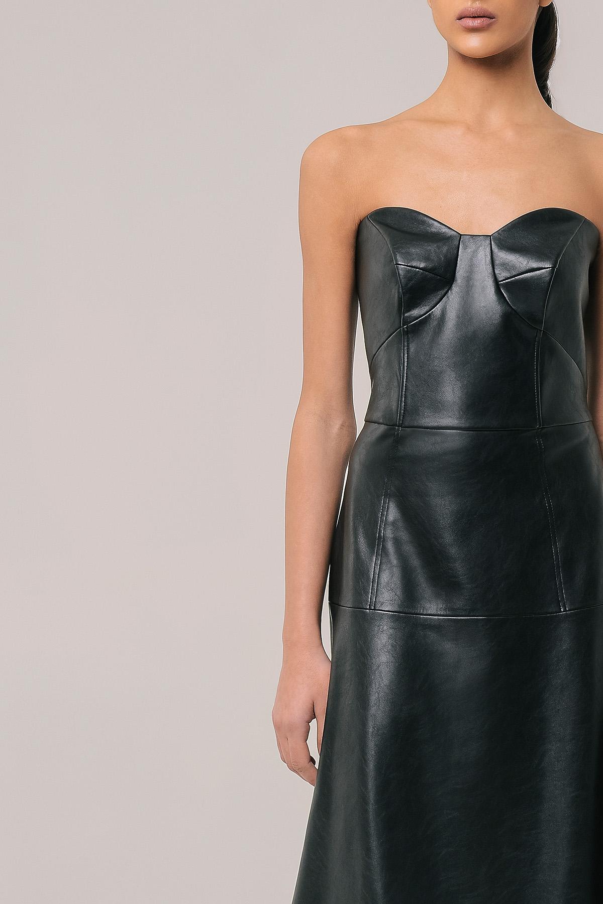 Vegan leather corset dress 3
